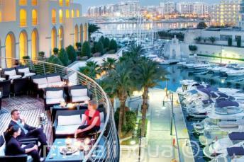 Varanda do Hilton em Malta