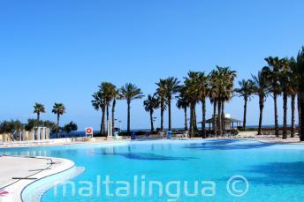 Hilton Malta piscina com vista para o mar