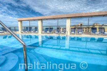 Hotel Alexandra Piscina no terraço, Malta