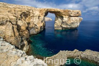 Vista de Azure Window em Gozo