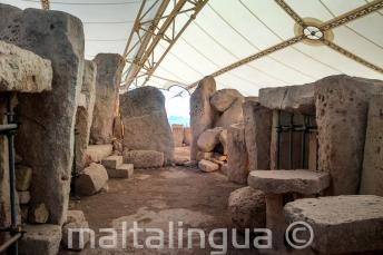 Templos pré-historicos em Ħaġar Qim