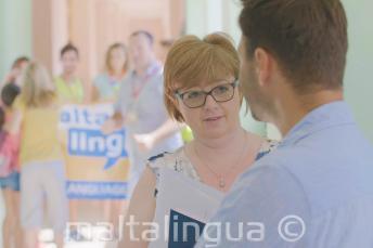 Maltalingua funcionários durante o campus de verão