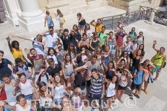Grupo de alunos em Valletta