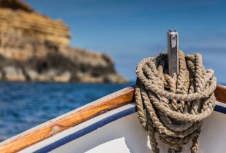 Um barco maltês tradicional