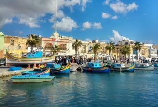 Barcos de pesca em Malta
